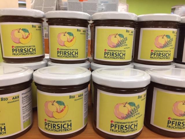 Lebensmittelretter Pfirsich Fruchtaufstrich